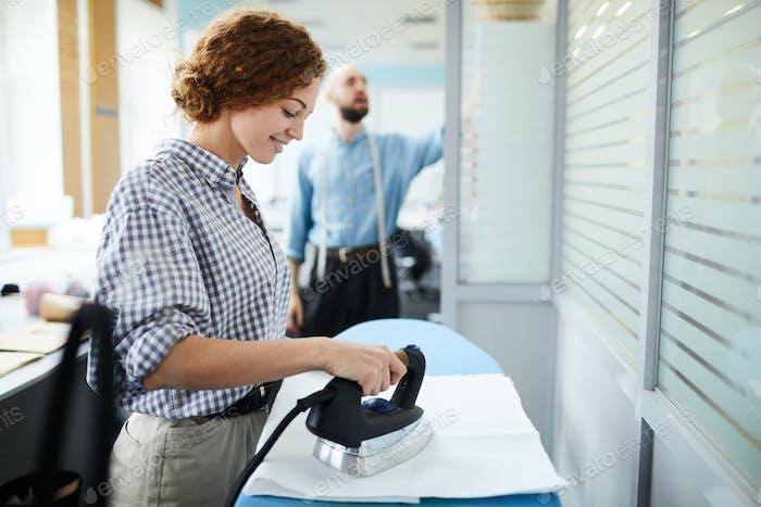 Tailor ironing