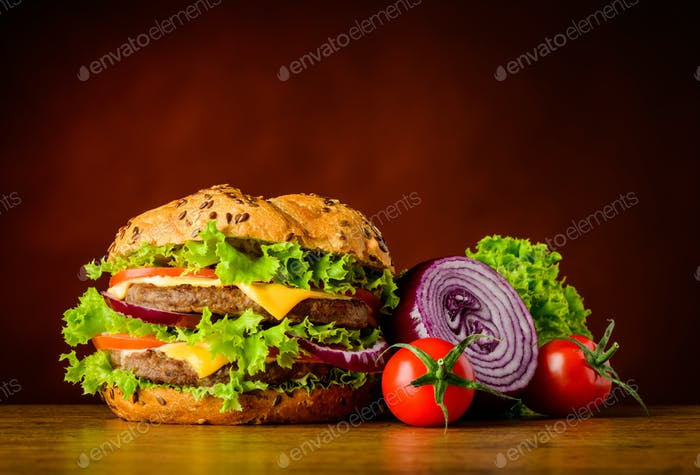 Thumbnail for Burger and Vegetables