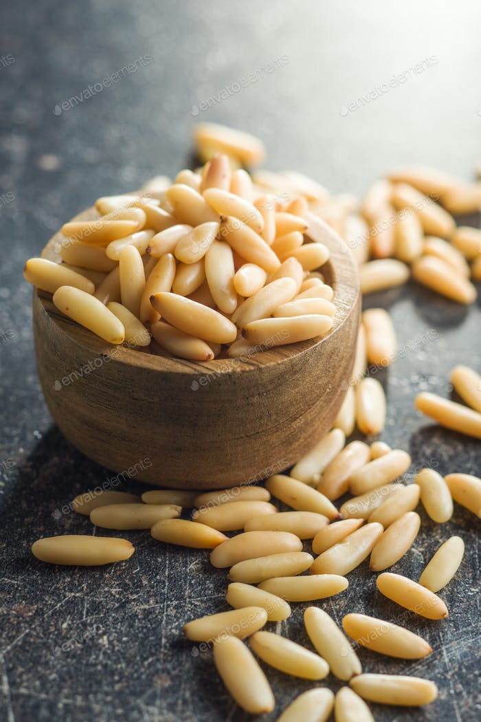 Tasty pine nuts.