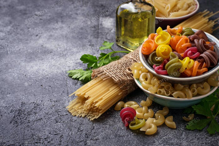 Different type of italian pasta