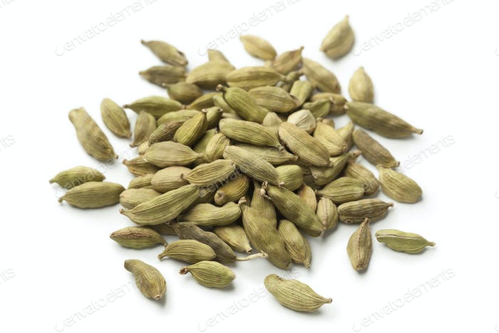 Heap of green cardamom  seeds