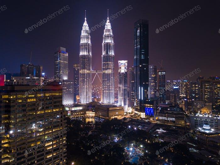 Kuala Lumpur Downtown skyline at night Travel Malaysia