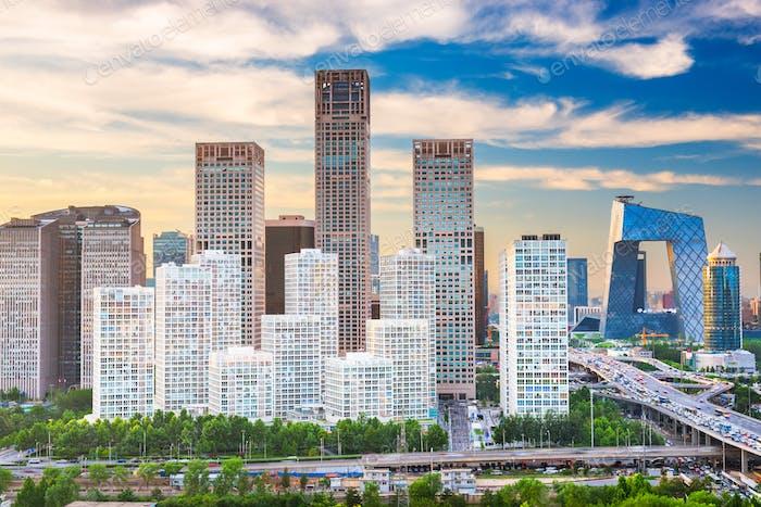 Peking, China moderne Finanzviertel Skyline
