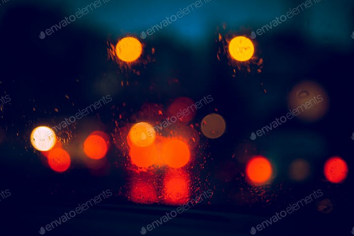 Blurry Car Lights Background