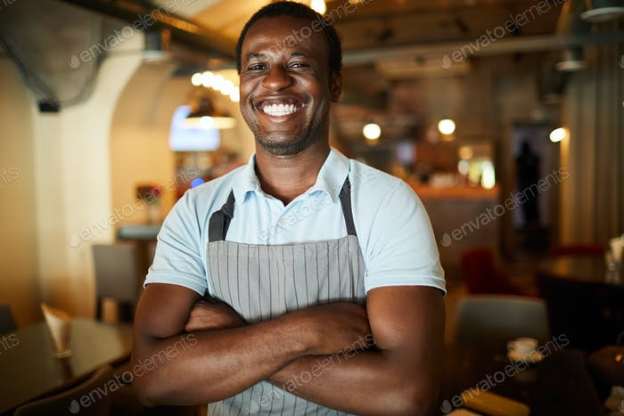 Joyful waiter