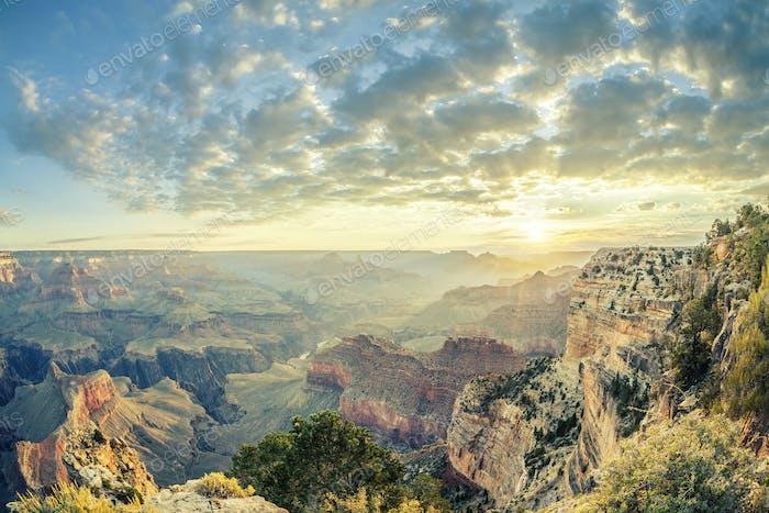 Grand Canyon et sunrise