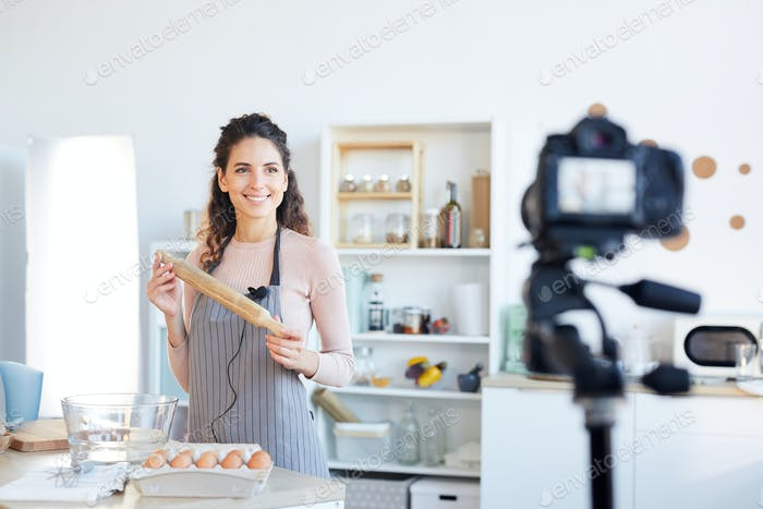 Modern Blogger With Rolling Pin