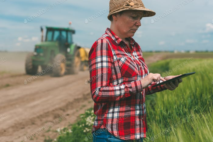 Smart farming, using modern technology in agricultural activity