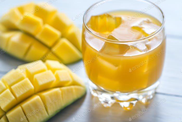 Glass of mango juice