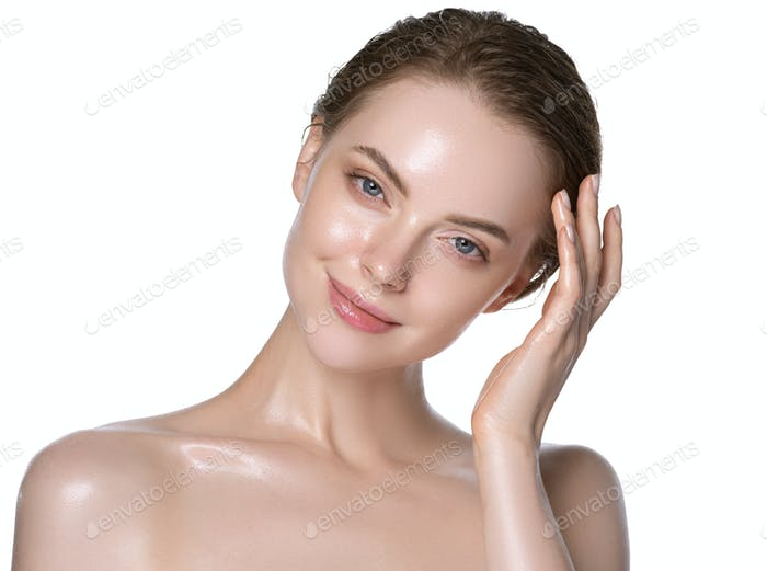 Hydration skin woman beauty healthy clean skin face beautiful model neck and shoulders