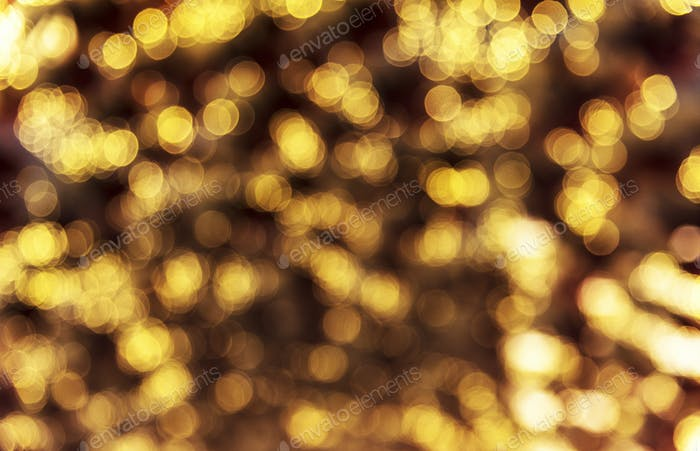 Blurred bokeh style lights in the evening