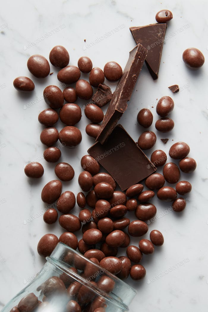 chocolate balls background