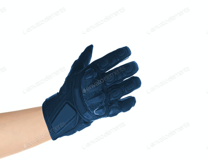 Men's leather gloves isolated