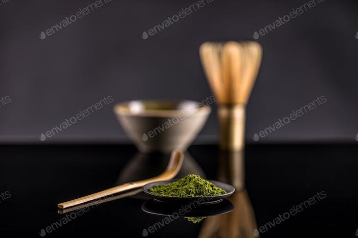 Powdered green tea