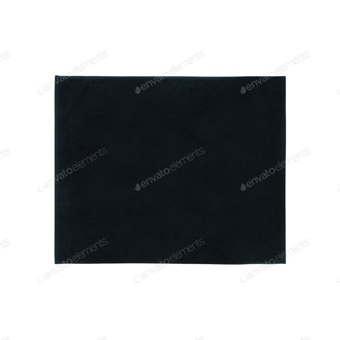black carpet isolated on white
