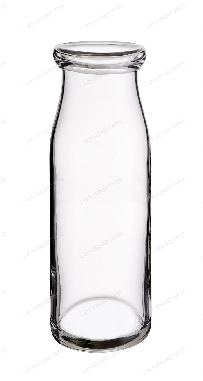 Empty Milk bottle isolated