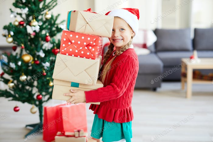 Child with presents