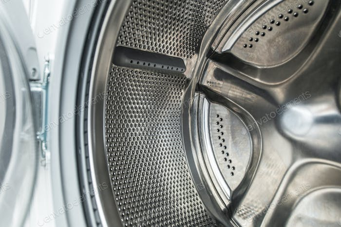 Clean Stainless Steel Laundry Machine Drum