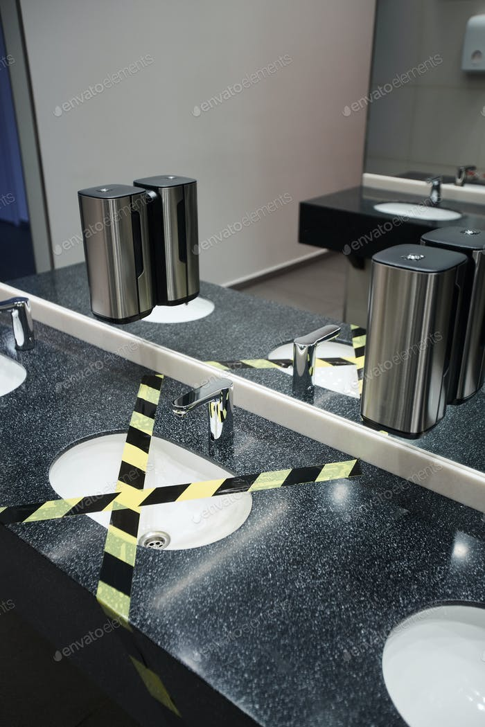 Covid Safety in Public Restroom