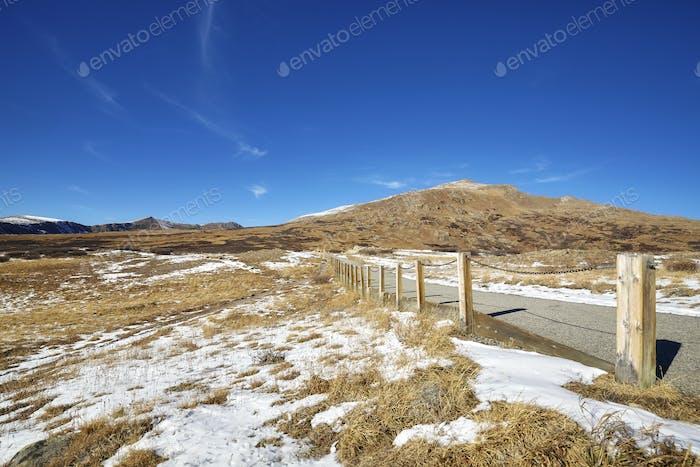 Independence Pass mountain footpath, Colorado, USA.