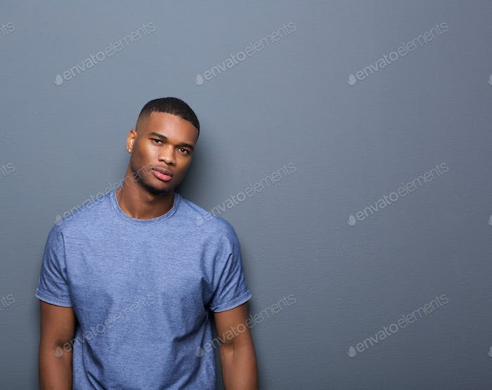 Portrait of an attractive african american man