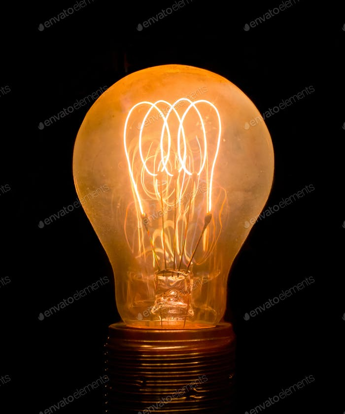Vintage Old Light Bulb