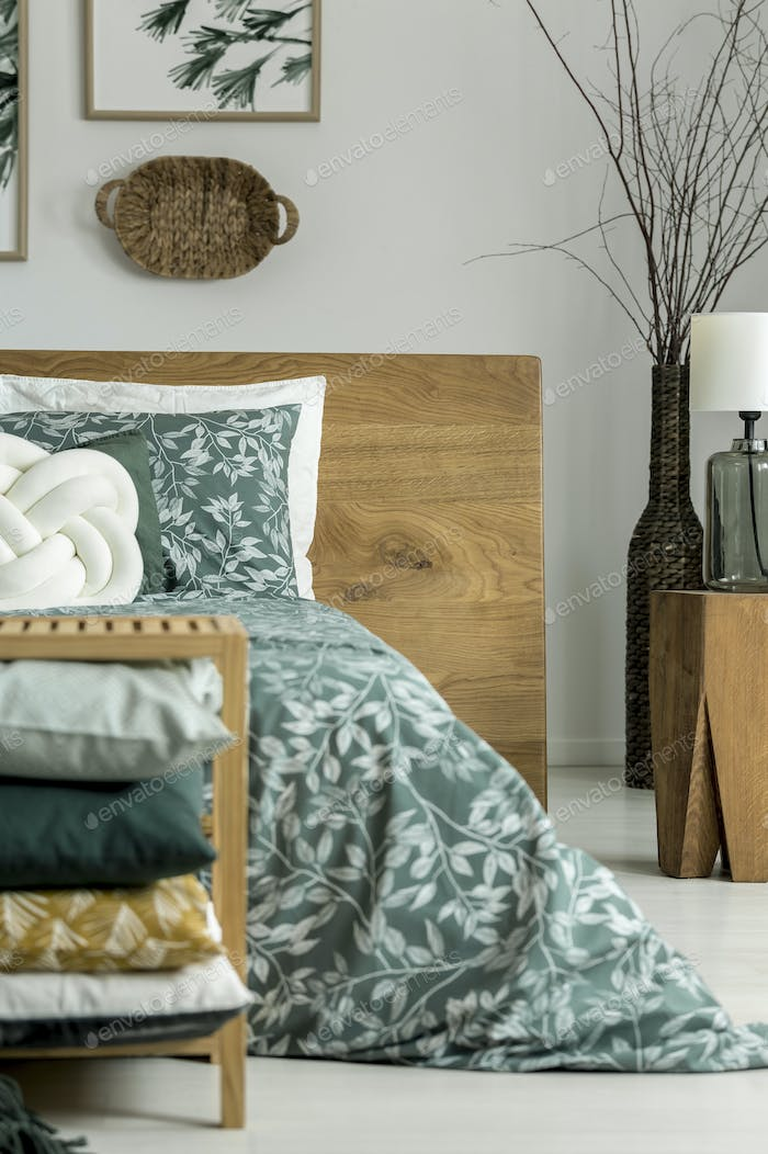 Bedding with floral motif