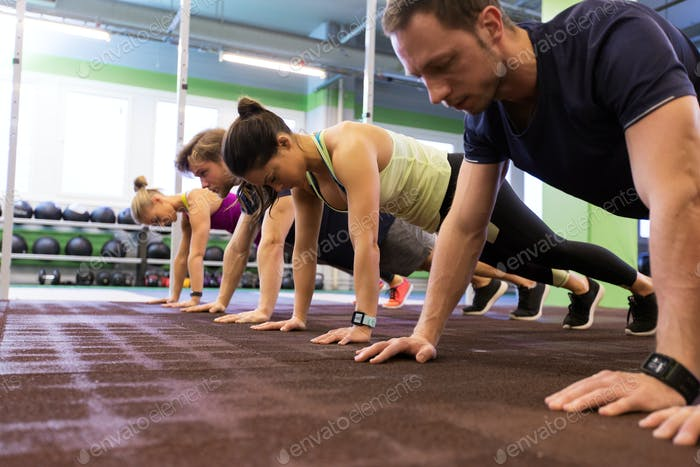 Thumbnail for group of people exercising in gym