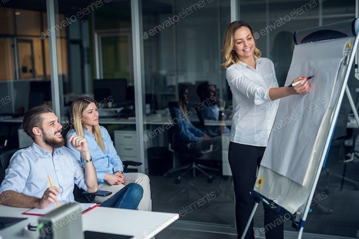 Präsentation eines neuen Geschäftsmodells