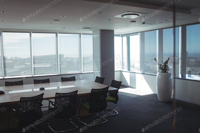 Interior of empty meeting room