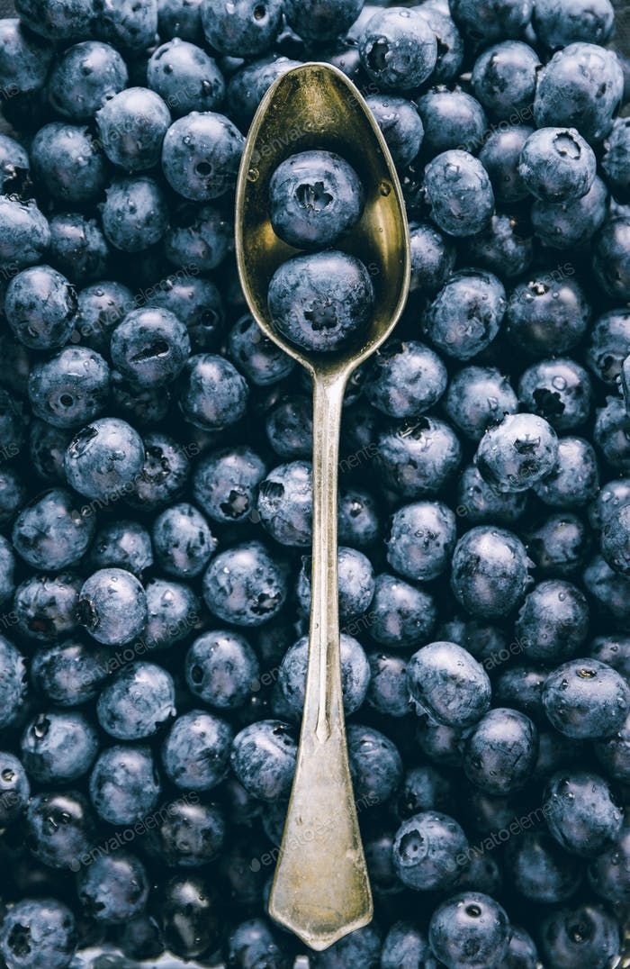 Fresh huckleberry full frame food background