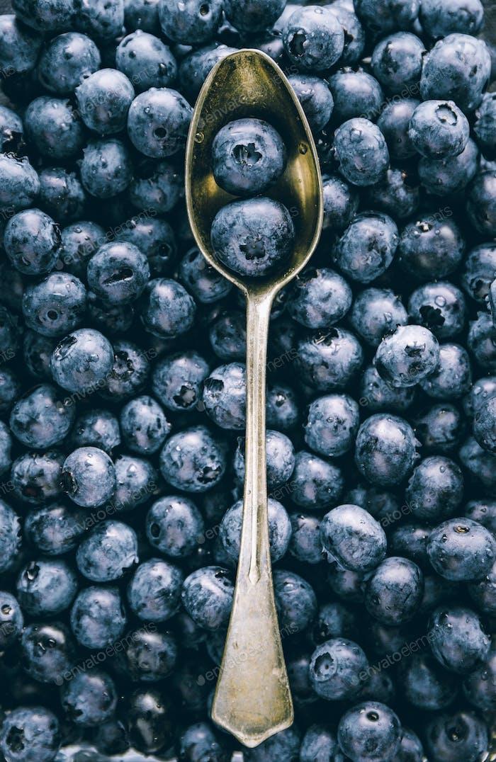 Fresh huckleberry full frame food background