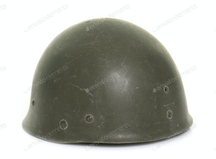 military helmet in studio