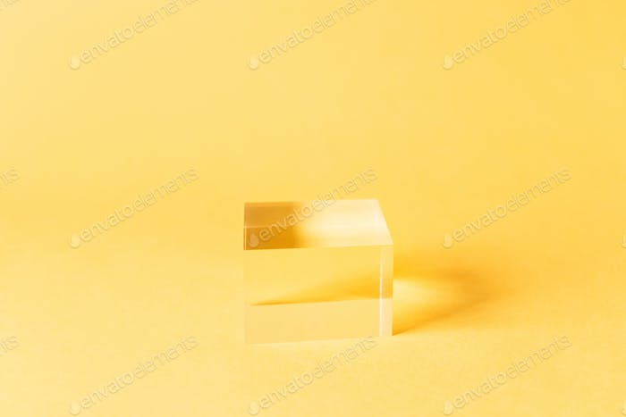 Vollmassiver Acryl-Displayblock