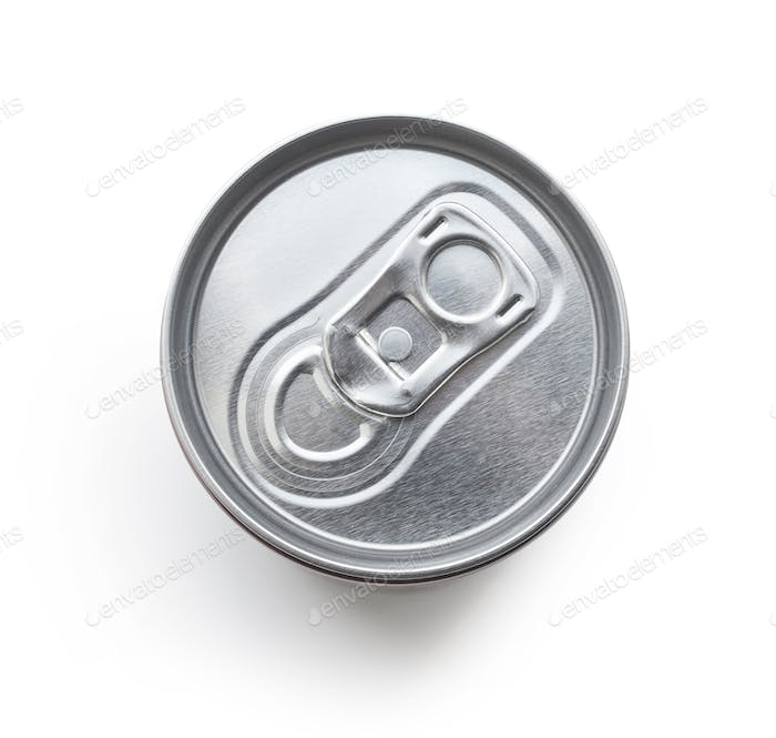 cola can on white background