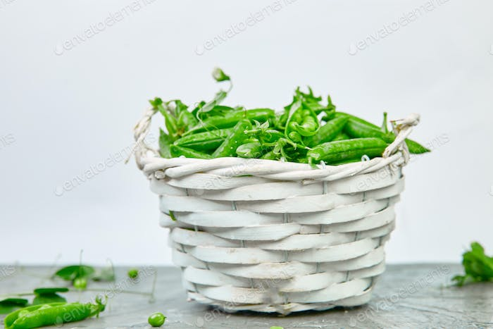 Peas in Basket