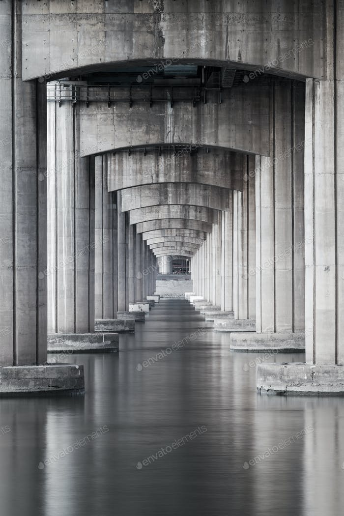 Under the highway and the sea