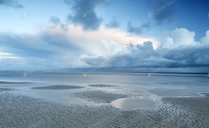 stormy clouds over North sea coast
