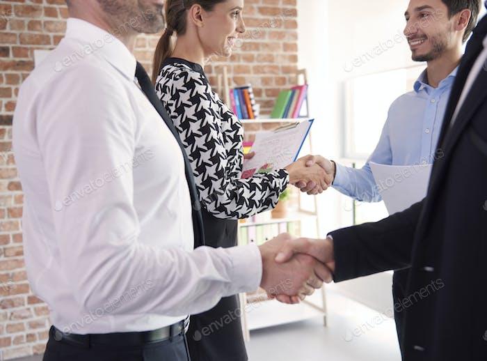 Good deal among business partners