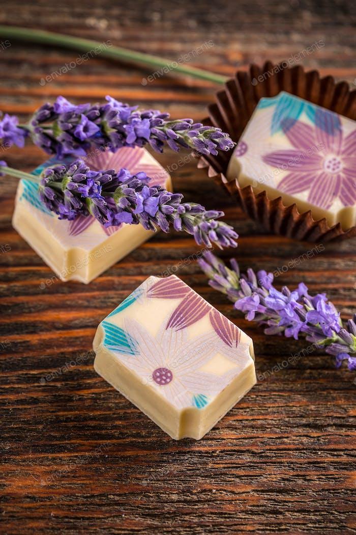 Lavender pralines