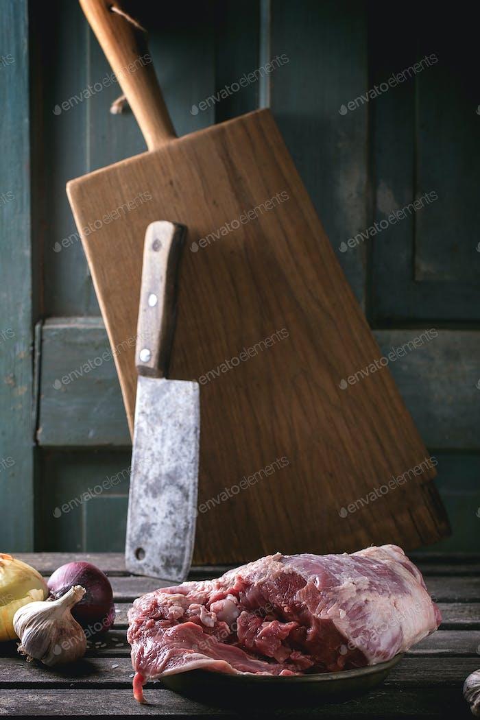 Meat of lamb