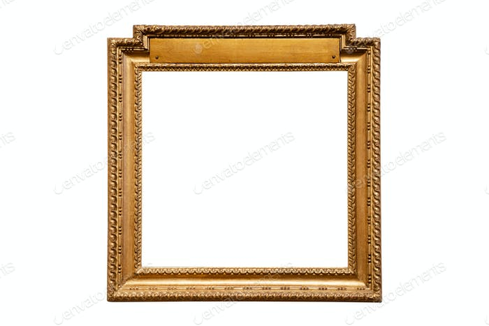 vintage wood picture round frame