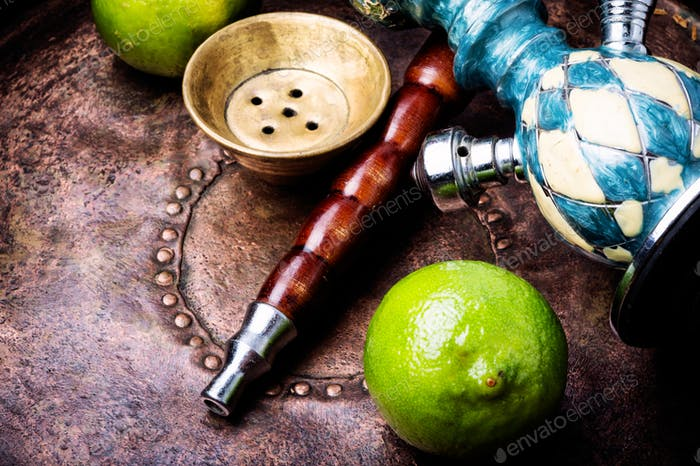 Turkish hookah with aroma lime