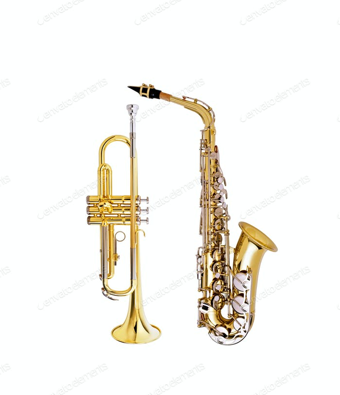 saxophone and cornet