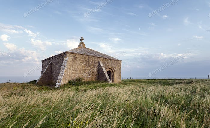 Late Evening at St Aldhelm's Chapel in Dorset