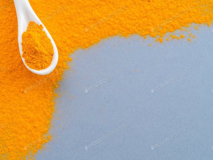 Turmeric Powder with copy space
