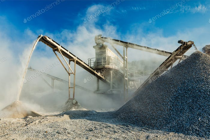 Industrial crusher - rock stone crushing machine