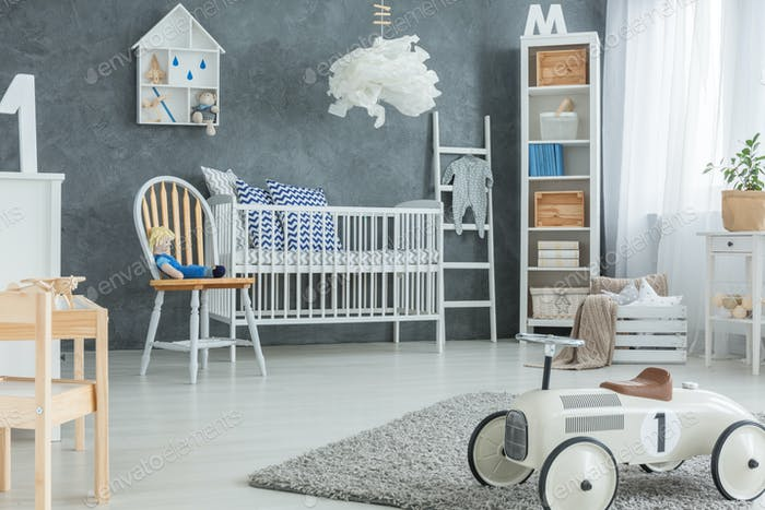 Boy room with cot