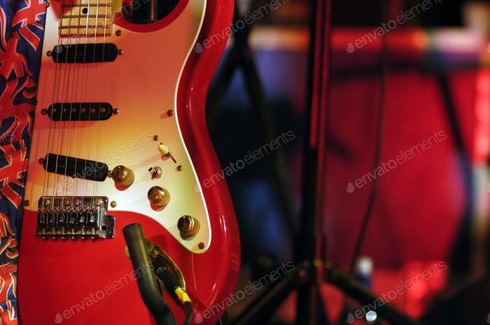 guitar on stage