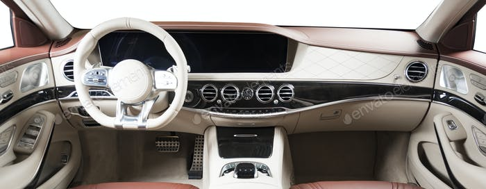 Modern Luxury Car Interior Dashboard